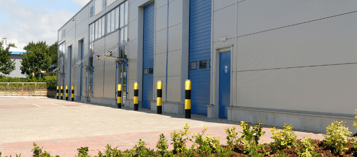 Loading docks of a commercial investment property