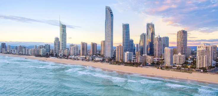 Skyline of the Gold Coast, a popular place for international property investors to purchase